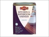 Liberon Kitchen & Bathroom Varnish Clear Satin 1 Litre
