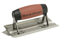 Marshalltown M180D Stainless Steel Groover Trowel Durasoft® Handle 150 x 75mm (6 x 3in)