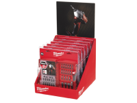 Milwaukee Shockwave Screwdriver Bit Set 28 Piece Counter Display of 6