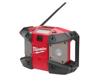 Milwaukee C12 JSR-0 Compact Jobsite Radio 240 Volt & 12 Volt Li-Ion Bare Unit