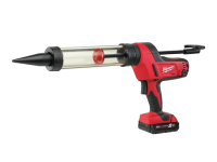 Milwaukee C18 PCG/400T Caulking Gun 400ml Transparent Tube 18 Volt 1 x 2.0Ah Li-Ion 18V