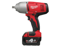 Milwaukee M18 HD18 HIW-402 Friction Ring 1/2in Impact Wrench 18 Volt 2 x 4.0Ah Li-Ion 18V