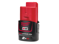Milwaukee M12 M12B2 REDLITHIUM-ION™ Battery 12 Volt 2.0Ah Li-Ion 12V