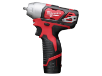 Milwaukee M12 BIW14-202C Sub Compact 1/4in Impact Wrench 12 Volt 2 x 2.0Ah Li-Ion 12V