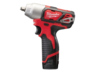 Milwaukee M12 BIW38-202C Compact 3/8in Impact Wrench 12 Volt 2 x 2.0Ah Li-Ion 12V