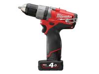 Milwaukee M12 CDD-402C Fuel™ Compact Cordless Drill Driver 12 Volt 2 x 4.0Ah Li-Ion 12V