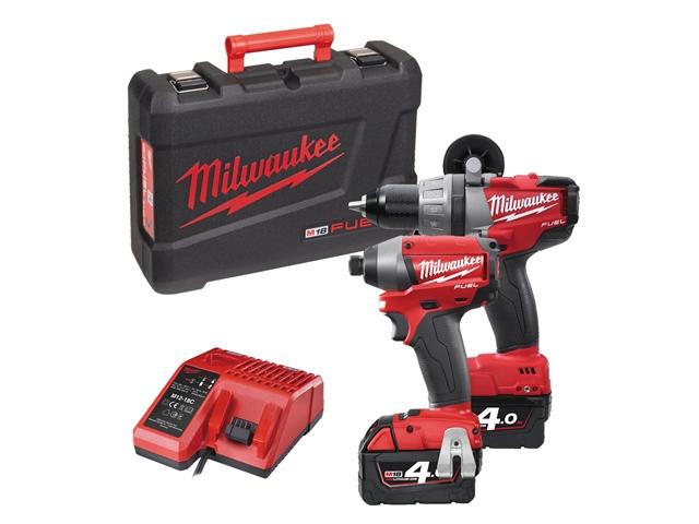 Milwaukee M18 PP2A-402C Fuel™ Twin Pack 18 Volt 2 x 4.0Ah Li-Ion 18V