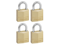 Master Lock Solid Brass 20mm Padlock 3 Pin - Keyed Alike x 4