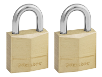 Master Lock Solid Brass 20mm Padlock 3 Pin - Keyed Alike x 2