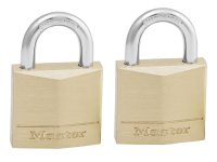 Master Lock Solid Brass 30mm Padlock 4 Pin - Keyed Alike x 2