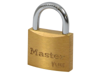 Master Lock V Line Brass 35mm Padlock