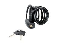 Master Lock Black Self Coiling Keyed Cable 1.8m x 8mm