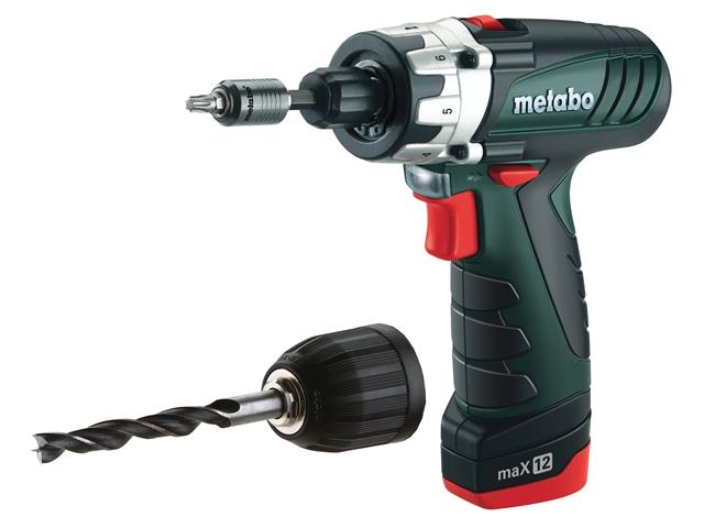 Metabo PowerMaxx 12 Drill Driver 10.8 Volt 2 x 1.5Ah Li-Ion 10.8V