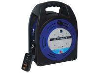 Masterplug Cassette Reel 20 Metre 4 Socket 13A RCD & Thermal Cut-Out 240 Volt 240V