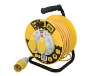 Masterplug Cable Reel 25 Metre 16A 110 Volt Thermal Cut-Out 110V