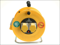Masterplug Cable Reel 50 Metre 16A 110 Volt Thermal Cut-Out 110V