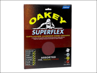 Oakey Cloth Backed Aluminium Oxide Sheets 230 x 280mm Assorted (3)