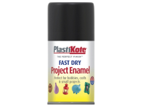 Plasti-kote Fast Dry Enamel Aerosol Black Matt 100ml