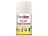 Plasti-kote Fast Dry Enamel Aerosol White Gloss 100ml