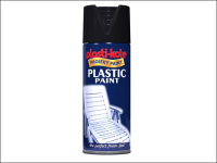 Plasti-kote Plastic Paint Spray Black Gloss 400ml