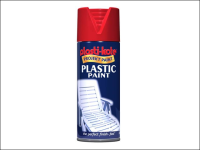 Plasti-kote Plastic Paint Spray Red Gloss 400ml