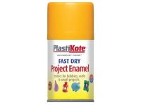 Plasti-kote Fast Dry Enamel Aerosol Sunshine Yellow 100ml