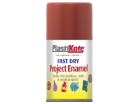 Plasti-kote Fast Dry Enamel Aerosol Nut Brown 100ml