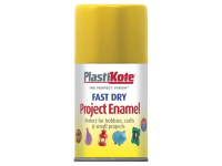 Plasti-kote Fast Dry Enamel Aerosol Buttercup Yellow 100ml