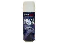 Plasti-kote Metal Protekt Spray Satin White 400ml