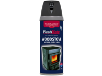 Plasti-kote Wood Stove Twist & Spray Black 400ml