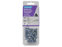 Plasplugs Bathroom Accessories Fixing Kit for Solid & Hollow Walls