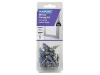 Plasplugs Mirror Fixing Kit for Solid & Hollow Walls