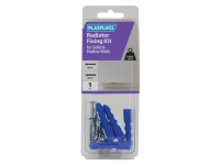 Plasplugs Radiator Fixing Kit for Solid & Hollow Walls