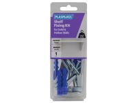 Plasplugs Shelf Fixing Kit for Solid & Hollow Walls