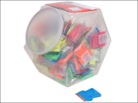 Personna Neon Plastic Mini Scraper Jar of 100 Single Blades
