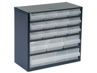 Raaco 616-123 Metal Cabinet 16 Drawer
