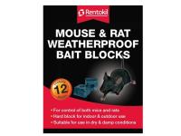 Rentokil Mouse & Rat Weatherproof Bait Blocks (12)