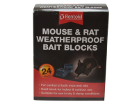 Rentokil Mouse & Rat Weatherproof Bait Blocks (Pack of 24)