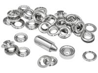 Rapid Grommets 10 x 21mm (25) + Metal Anvil & Hammer