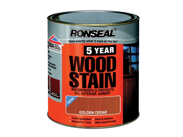 Ronseal 5 Year Woodstain Golden Cedar 250ml