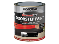 Ronseal Diamond Hard Doorstep Paint Black 250ml