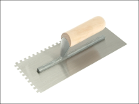 R.S.T. Notched Trowel 6mm Square Notches Wooden Handle 11in x 4.1/2in