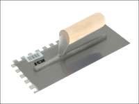R.S.T. Notched Trowel Square 10 x 10mm Wooden Handle 11in x 4.1/2in