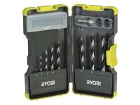 Ryobi RAK-08BP Bradpoint Drill Bit Set of 8