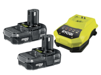 Ryobi RBC 18LL One+ Batteries & Charger 18 Volt 2 x 1.3Ah Li-Ion 18V