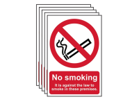Scan No Smoking On These Premises PVC 200 x 300mm