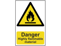 Scan Danger Highly Flammable Material - PVC 200 x 300mm