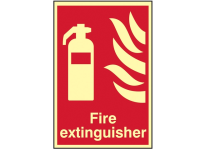 Scan Fire Extinguisher Photoluminescent - 200 x 300mm