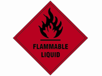Scan Flammable Liquid SAV - 100 x 100mm