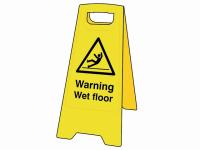 Scan Warning Wet Floor Heavy-Duty A Board